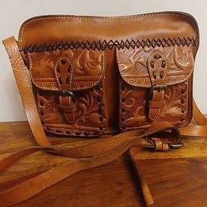 Patricia Nash Tooled Leather Crossbody Purse